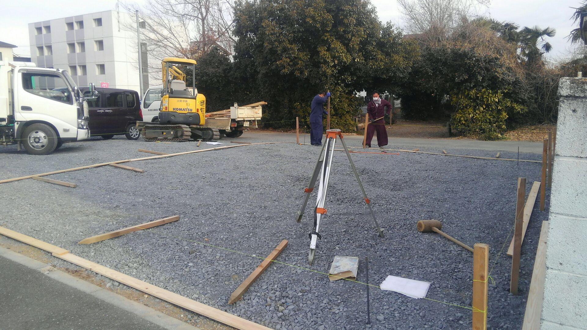 熊谷市A様邸です。着手!基礎工事がはじまりました。
