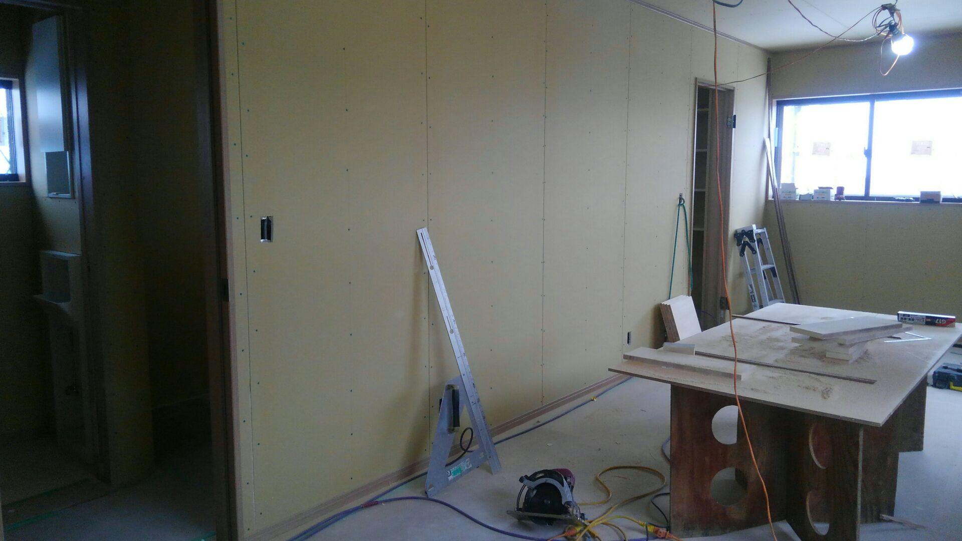 二階の子供部屋。将来間仕切りタイプ。久喜市のT様邸もそうでした。最近またこのタイプ増えてます。
