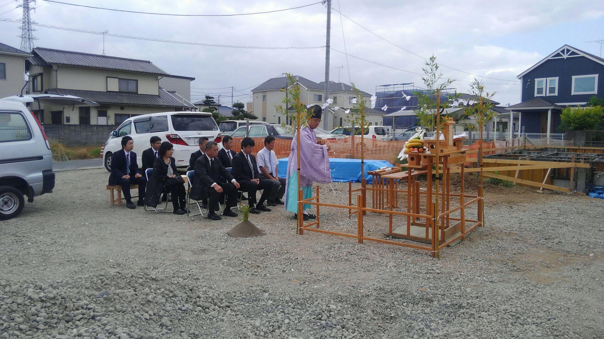 【建物施工】こどものとも様北関東支店 地鎮祭が終了しました。