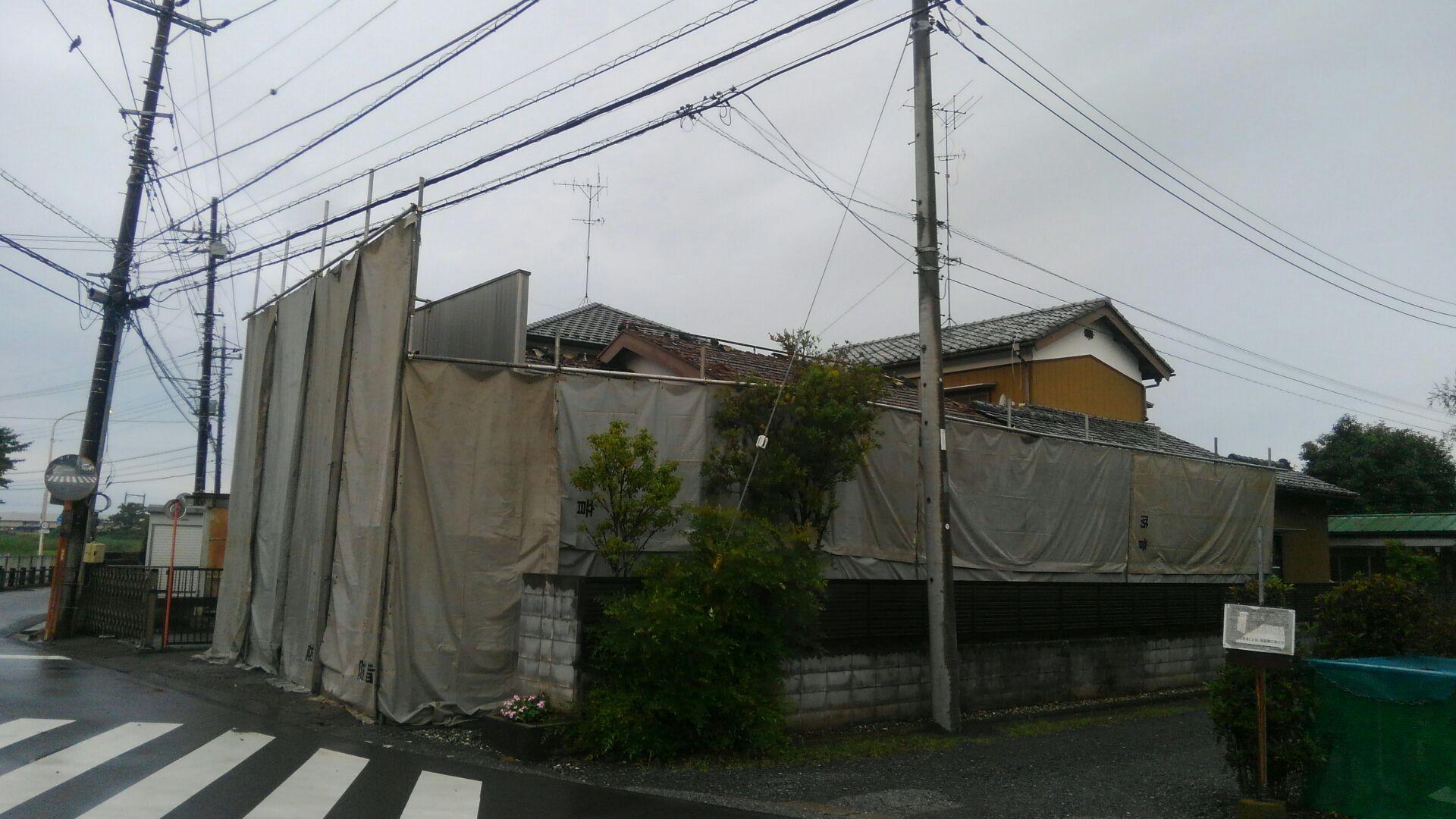 【注文住宅】白岡市Y様邸 解体工事がはじまりました。