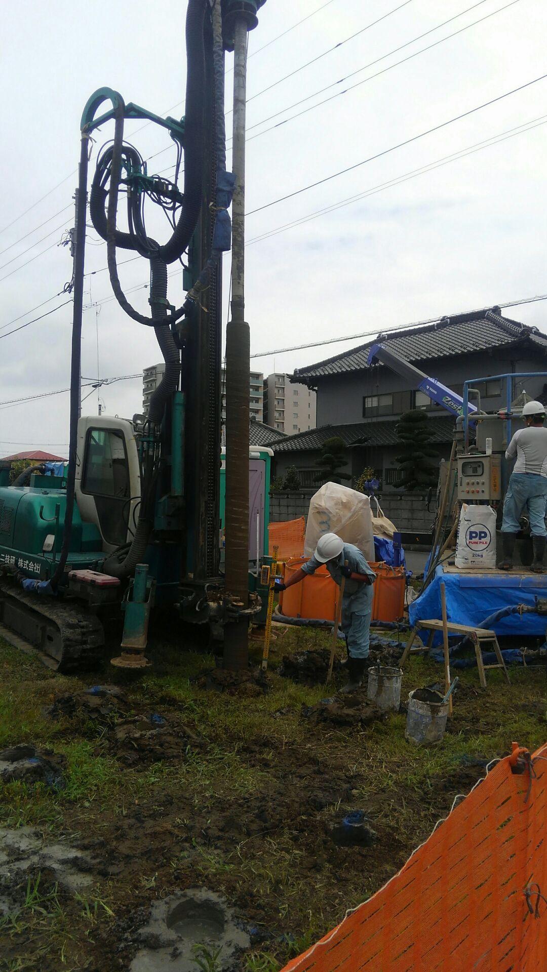 【注文住宅】白岡市K様邸 地盤改良工事のはじまりとおわり。