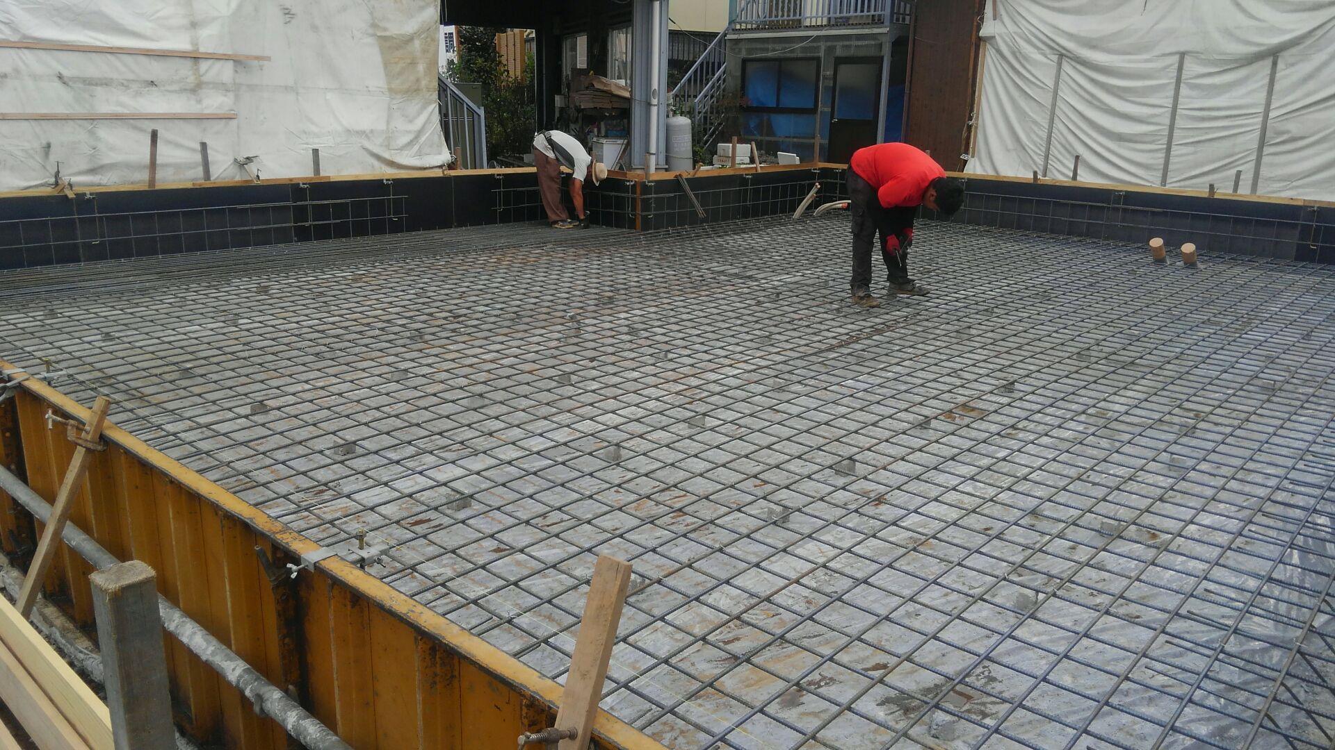 【建物施工】弓木空調様 基礎工事が終わりました。