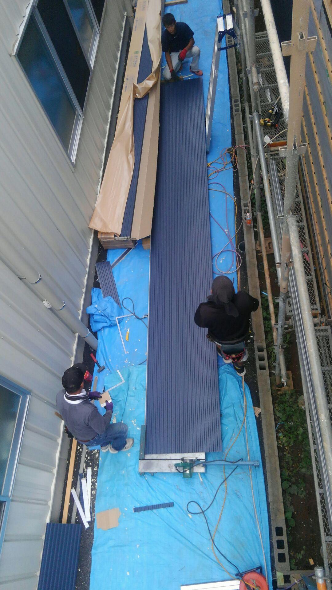 そしてさっそく外壁工事作業開始!