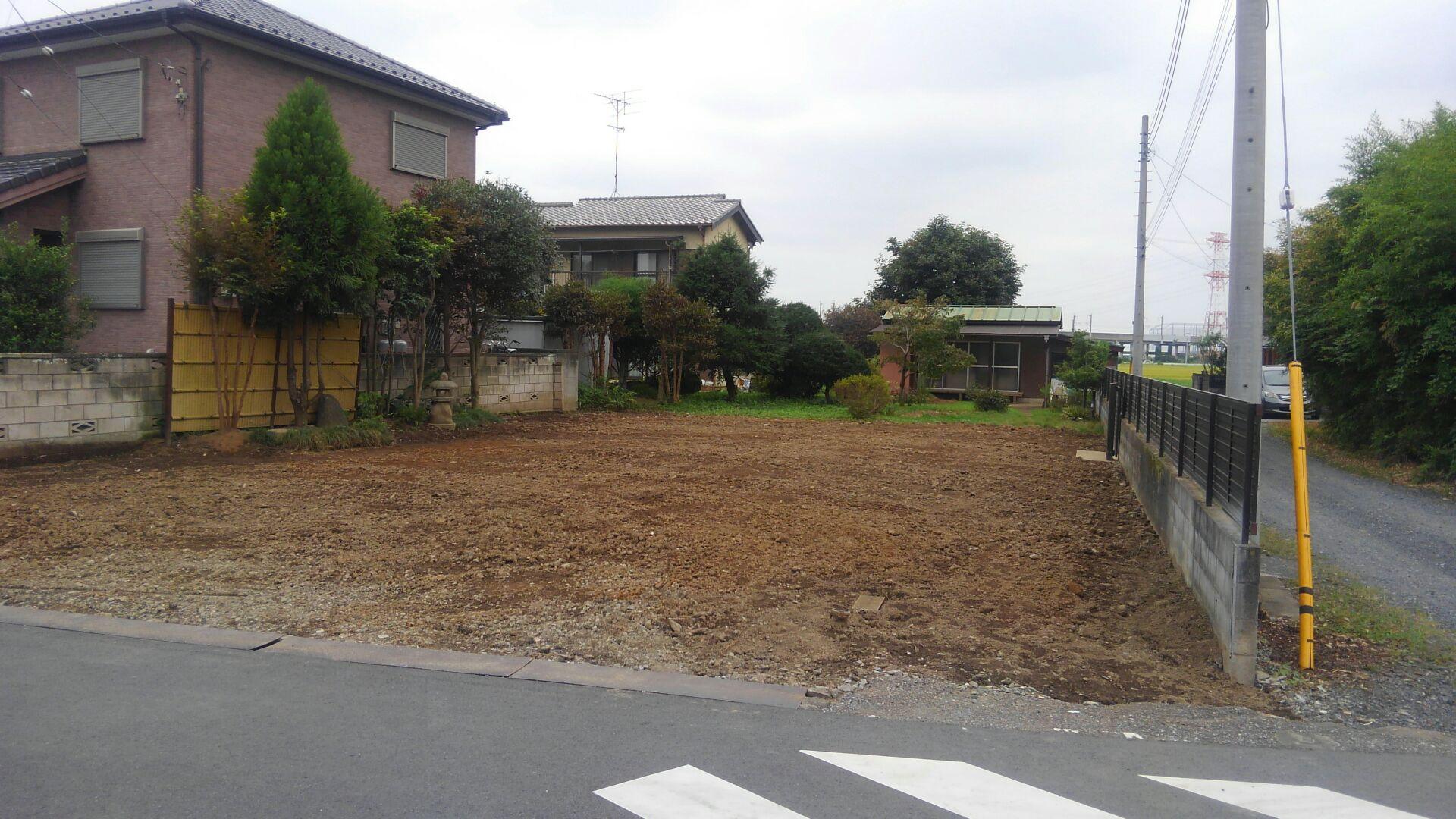 【注文住宅】白岡市Y様邸 解体工事が終わりました。