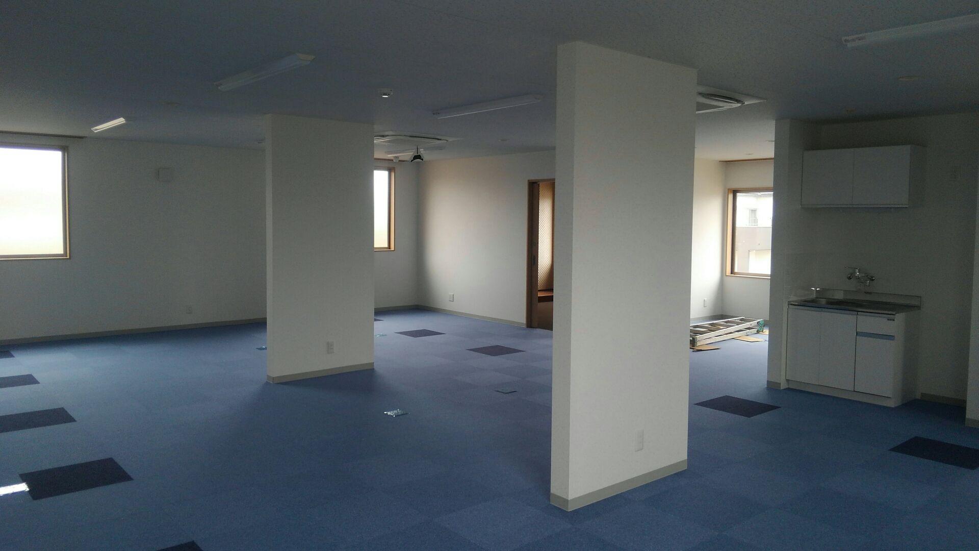 内装工事が終わりました。