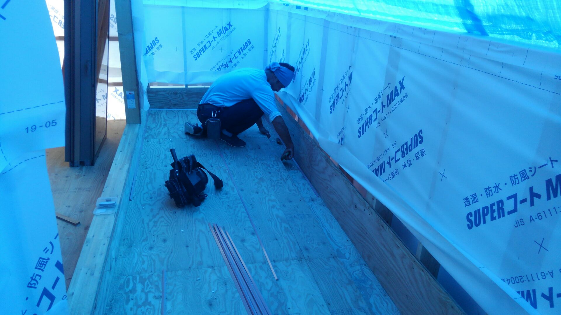 【注文住宅】新白岡市K様邸 防水工事のはじまりです。