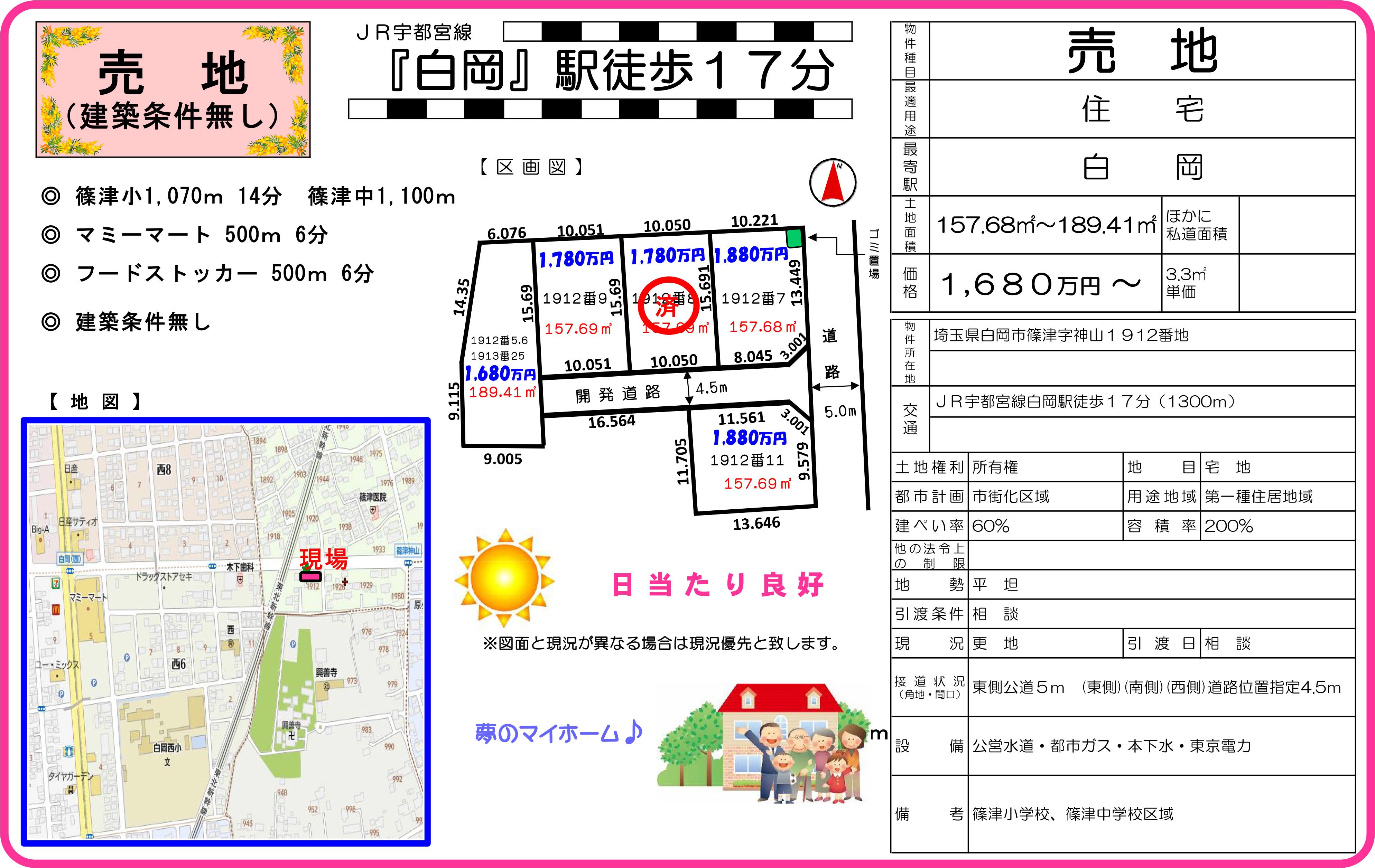 【土地情報】白岡市の土地情報!