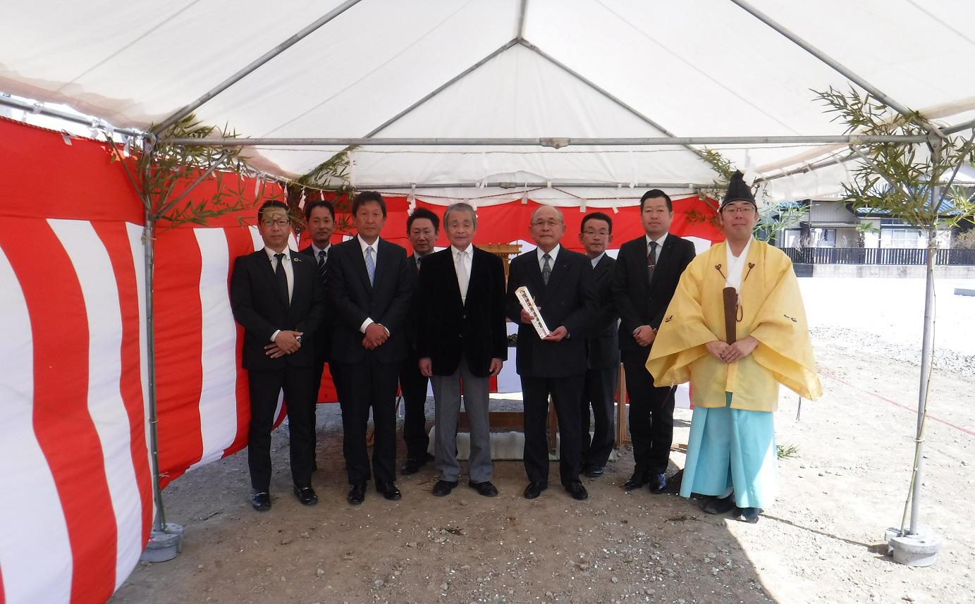 【建物施工】(仮称)かぞヤクルト販売株式会社 富士見町店様 地鎮祭を行いました。