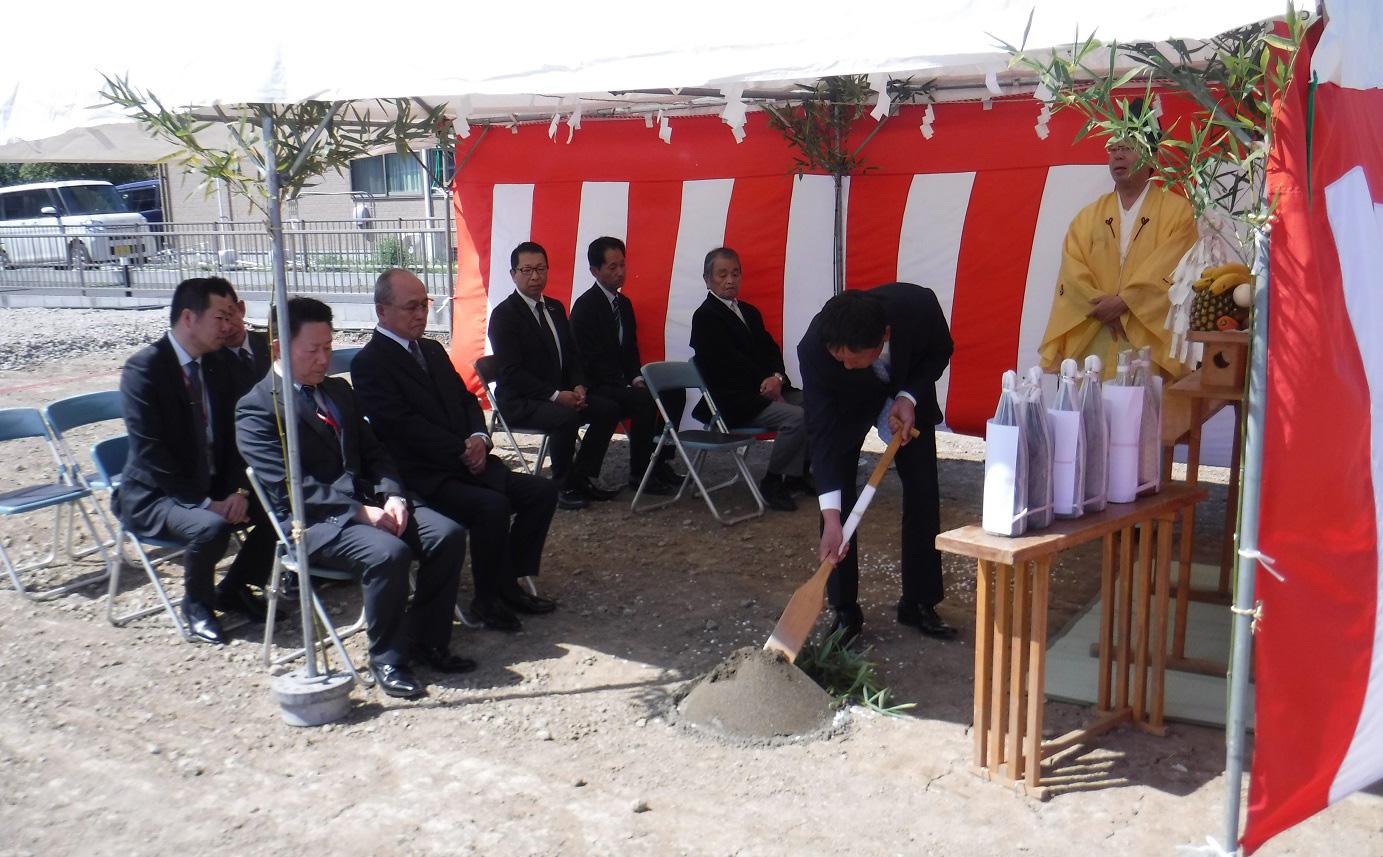 仮称)かぞヤクルト販売株式会社 富士見町店様の地鎮祭を行いました。