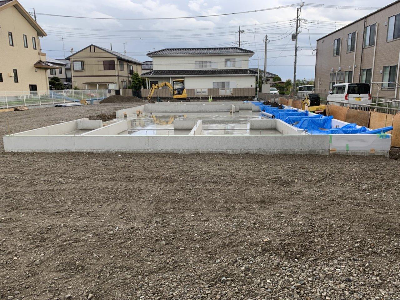 【建物施工】(仮称)かぞヤクルト販売株式会社 富士見町店様、新築工事が始まりました。